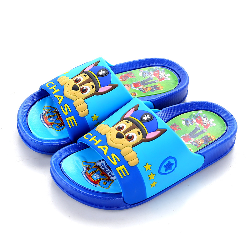 Summer Kids Slippers Cartoon Animals Boys Home Slippers For Girls Sandals Korea Flip Flop Children Non-slip Flat Casual Shoes