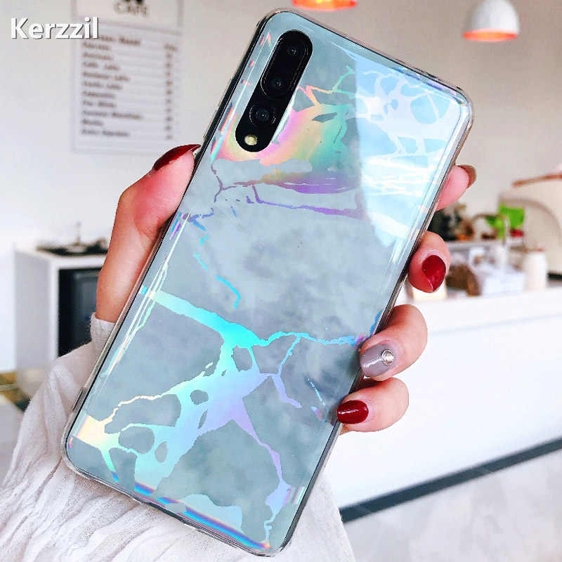 Shining Glossy TPU Marble Case For Huawei P20 Lite Pro Cover Case On Honor 7A 7C Pro Nova 2S 3i 3e Y5 Y6 Prime 2018 Soft Cover