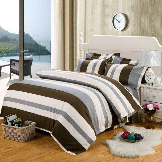 2017 Polyester Bedding Sets Hot Sales Duvet Cover Striped Elements Bedding  Set 3pcs/4pcs Bed