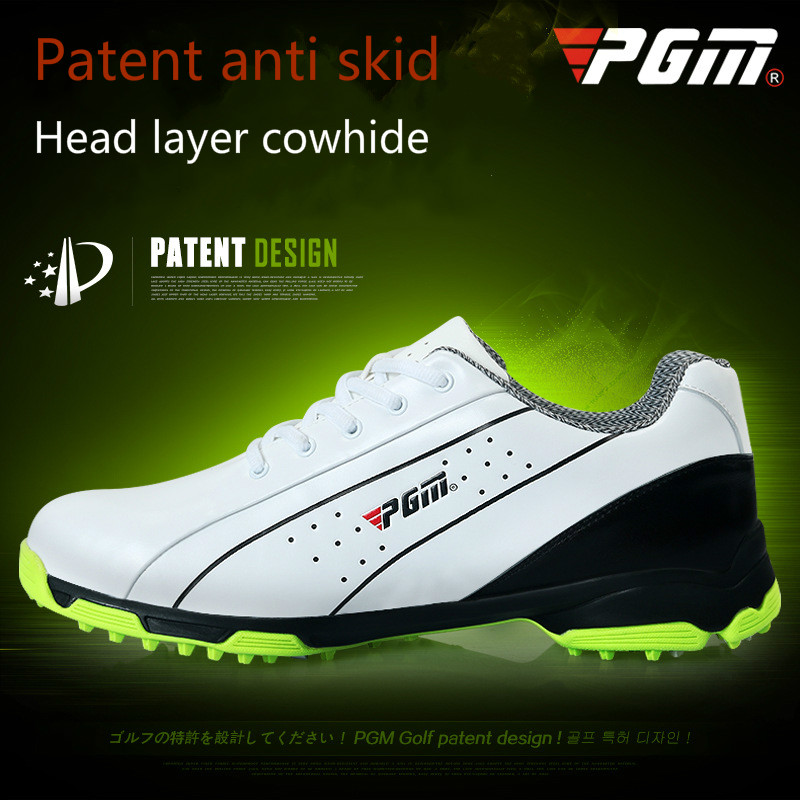 Здесь продается  2018 PGM Male Golf Shoes Brand Head Layer Cowhide Antiskid Patent Sneakers Summer Waterproof Wear-resisting sport shoes for men  Спорт и развлечения