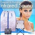 Portátil infrarrojo lejano Sauna Spa adelgazamiento de iones negativos desintoxicación terapia Personal abeto Sauna silla plegable sala de cabina calentador de Sauna