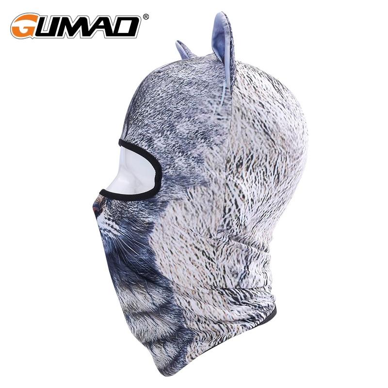 3d Cat Dog Balaclava Full Face Mask Warm Helmet Liner Ski Running