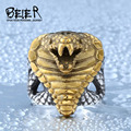 Beier new store 316L Stainless Steel ring high quality Punk Unique Snake men Ring fashion jewelry BR8-086
