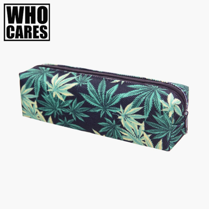 Weed black 3D printing Cosmetic bags makeup bag Fashion neceser pencil case pochette maquillage trousse maquillage femme рюкзак case logic 17 3 prevailer black prev217blk mid
