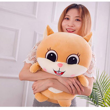 Kawaii Big Eyes Squirrel Plush Toy Soft Cartoon Animal Squirrel Filled Doll Home Decoration Toy Children Pillow Girl Best Gift