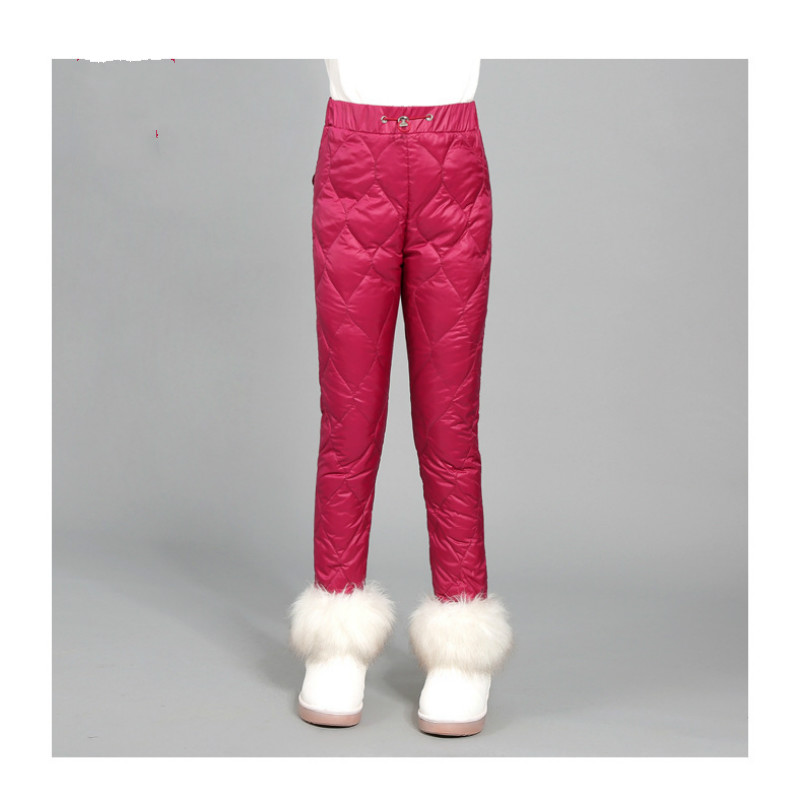 Winter boys and girls down trousers thicker in the new style of fashion warmth high waist trousers children down trousers wearWinter boys and girls down trousers thicker in the new style of fashion warmth high waist trousers children down trousers wear