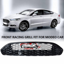 CITYCARAUTO AUTO MASK COVER FRONT RACING GRILLE GRILLS RAPTOR FRONT GRILL COVER FIT FOR FORD MONDEO FUSION 2013-2016 CAR