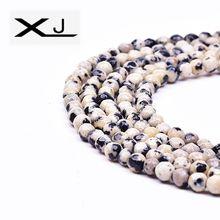 цена XJ Natural Cut Round Stone Loose Beads 38cm a Strand 3mm Colorful Section Stone Beads For Jewelry Making DIY Bracelet онлайн в 2017 году