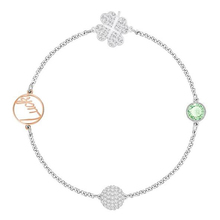 цена Fanier SWA New Four -leaf Clover Bracelet For Female Sex Stack -hand Studded With Wild Luck Four -leaf Clover For Pulse To Bring Fun With онлайн в 2017 году