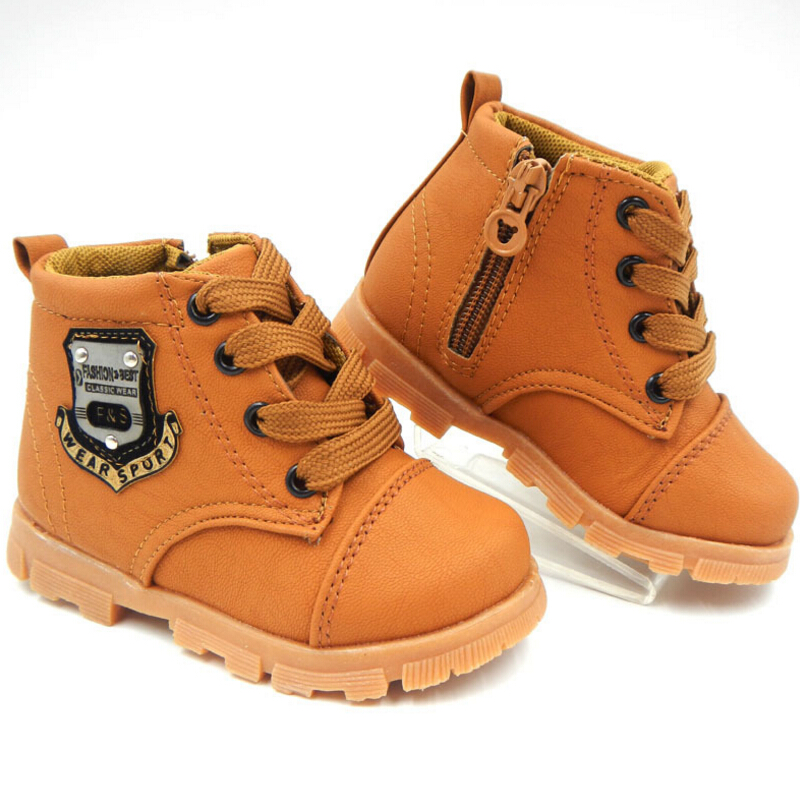 Spring-Autumn-children-Martin-boots-winter-New-boys-Flat-zipper-child-Lace-up-Snow-boots-girls-toddler-shoes-kids-sneakers-1