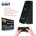 Em estoque mini qwerty sem fio 2.4G Controle Remoto fly Air Mouse touchpad Teclado para MX3 Android Mini PC Notebook smart TV Box
