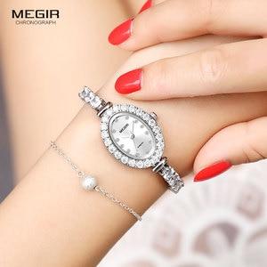 Image 3 - Megir 女性の時計ファッション 2018 新シンプルなアナログ高級腕時計女性 Relogios Femininos 時計 4206 白