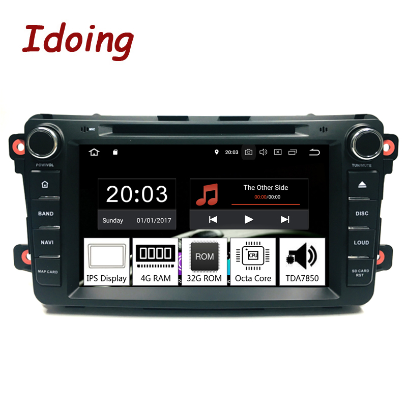 Idoing 8 2Din Radio Android 9 0 For Mazda CX9 2007 2015 Car Multimedia System DVD