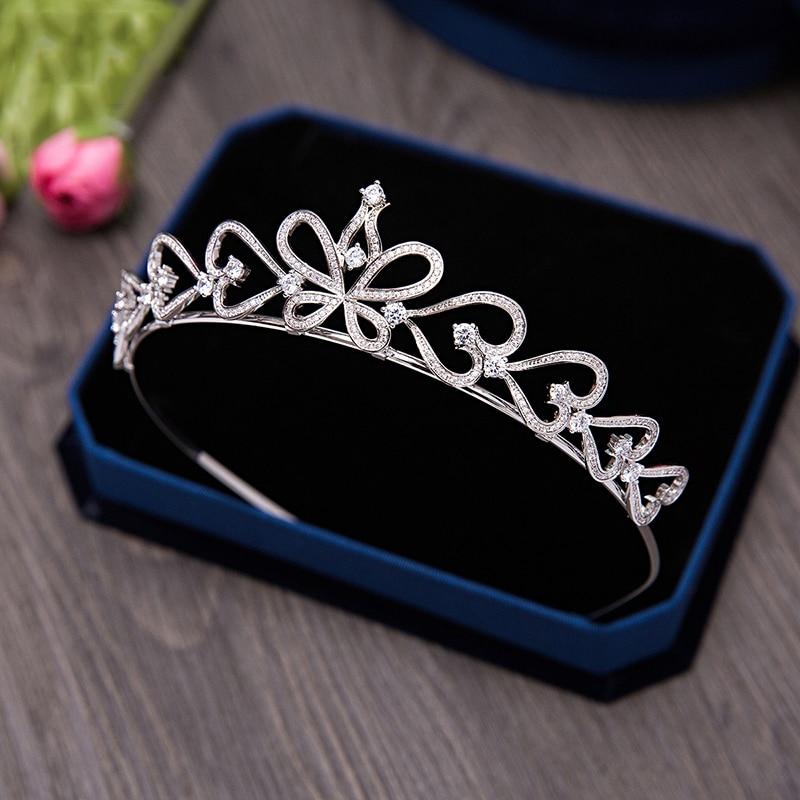 AAA zircone cubique Bandeau accessoires pour cheveux De Mariage Mariée couronne de diadème Micro Incrustations Zircon Pierre Princesse Couronne Casque Cadeau