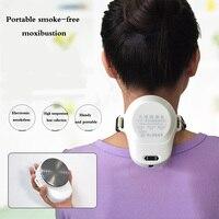 Portable Moxa Moxibustion Box Smokeless Acupuncture Massage Wormwood Therapy Electronic convenient body warm moxibustion device
