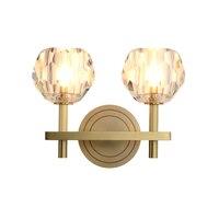 Estilo nórdico de Cobre CONDUZIU a Luz Da Parede Simples Lâmpadas de Parede de Cristal Arandela Luminárias Casa Quarto Sala Luminária Luminárias de parede    -
