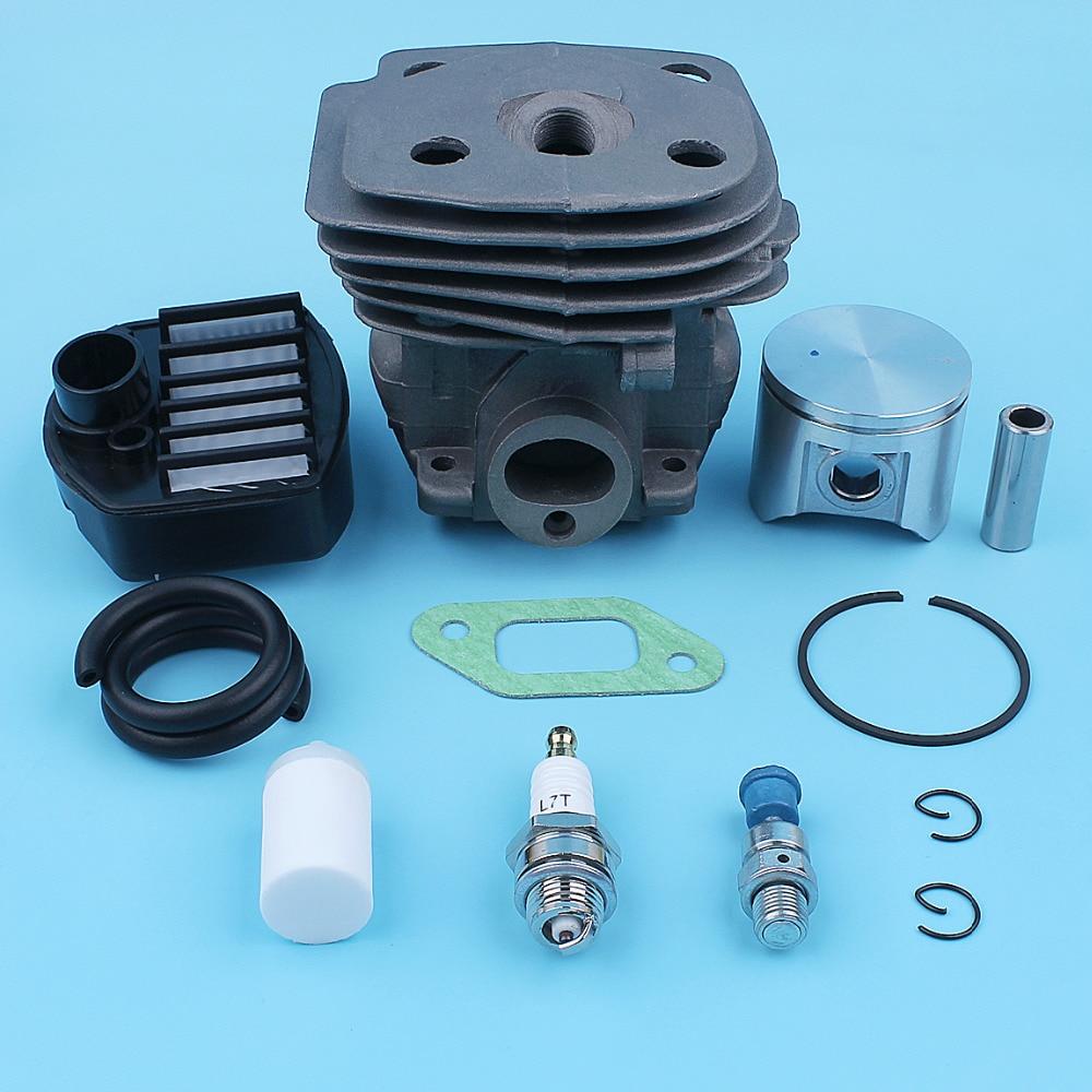 Tools : Cylinder Piston Air Fuel Filter Gas Line Kit For Jonsered CS 2159 CS 2156 CS2159 CS2156 EPA Chainsaw 47mm Big Bore Port Nikasil