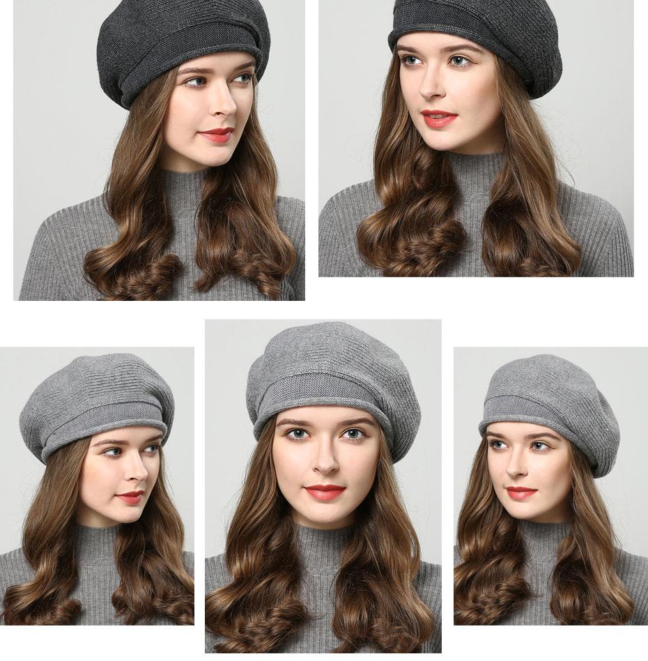 Chapeau d'hiver tricoté pour femmes