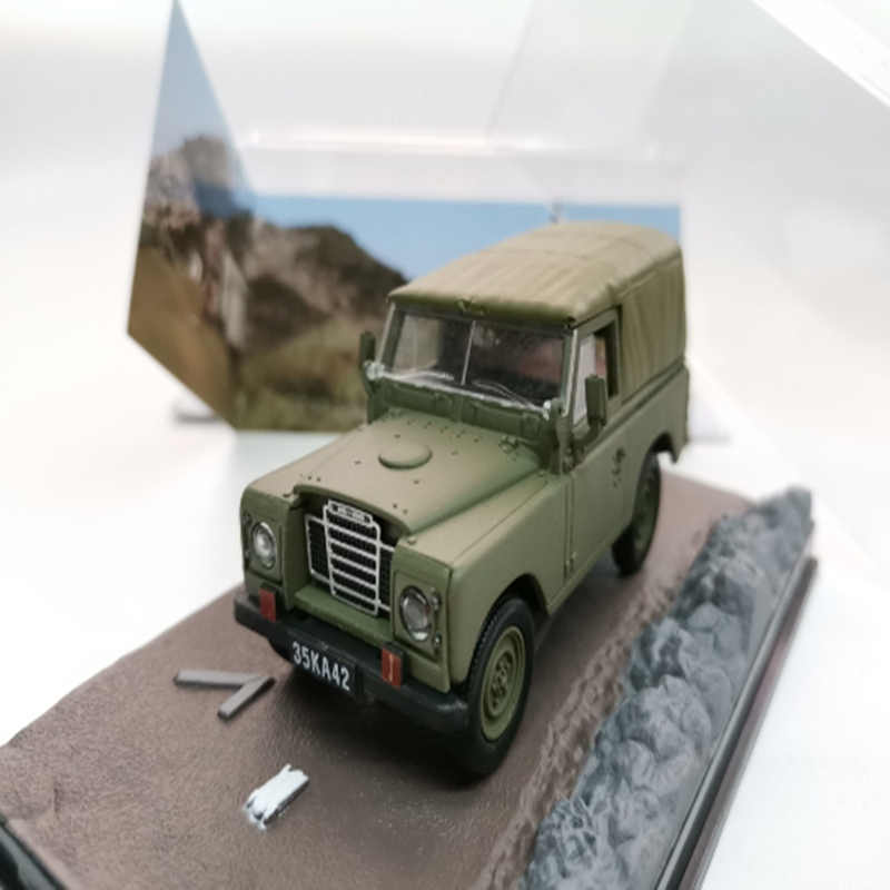 1:43 Simulation LR III THE LIVING DAYLIGHTS SUV Collection Display Model Alloy Die Casting Vintage SUV Toy Car