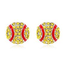 2019 Fashion Cute Rhinestone Baseball Earring Stud Base Ball Fans Sports Jewelry World Cup Teams Gift for Girls Women Ear