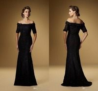Fashion Lace Floor Length Mermaid Half Sleeve Brides Mother of the Bride Dresses 2016 Pant Suits Plus Size for Weddings