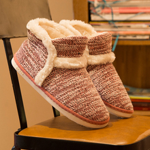 Winter Warm Home Slippers Adult Men And Women Household Slipper Soft Non-Slip Short Plush Indoor Floor Shoes