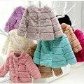 Ladies' Fashion Genuine Real Rabbit Fur Jacket Coat O-Neck Autumn Winter Women Fur Outerwear Coats Lady Clothing  VK2259