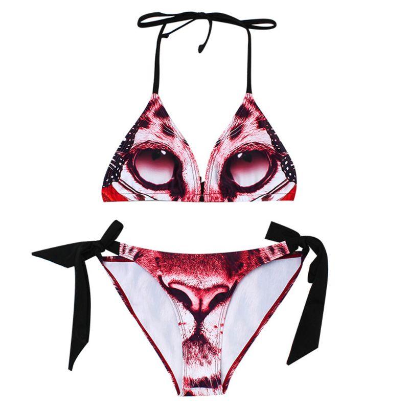 fdb7dc80e 1 Set Bikini traje de baño sujetador ropa interior de señora de las mujeres  Floral Sexy de moda de impresión de moda correa acolchada suave sujetador  traje ...