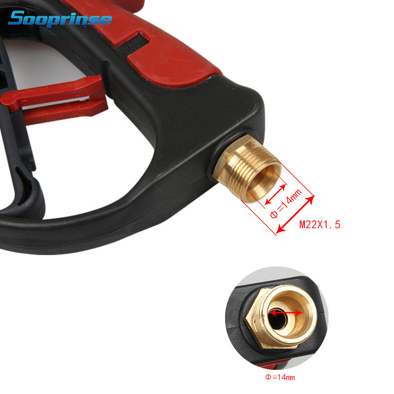 Image 3 - High Pressure Washer Water Gun Wand Tips Pistol Short Spray Gun Jet Lance Nozzle 4 Quick coupler spray Nozzle,4000 PSI 2019New-in Water Gun & Snow Foam Lance from Automobiles & Motorcycles
