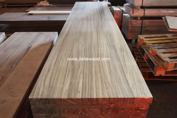 Zebrano Full Stave Solid Wood Worktops Kitchen Tops Island