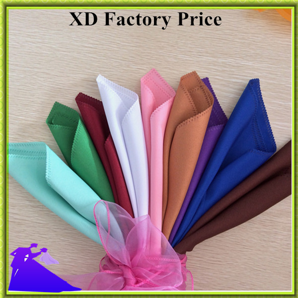 Hot sale&high quality wedding hotel linen napkin polyester table napkin factory price many colors free shipping
