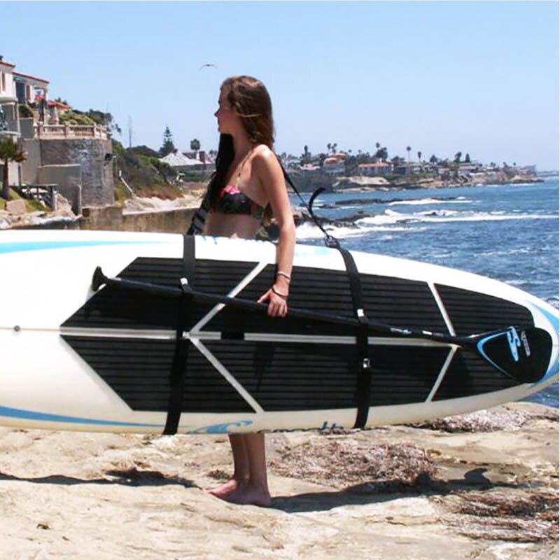 Prancha Ajustável Alça de Ombro Carry Sling Transportadora Prancha de Stand Up Paddle Surf Surfing WHShopping