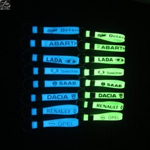 Estilo do carro luminoso chaveiro adesivo para vw mitsubishi lada benz bmw audi toyota hyundai chevrolet fiat abarth ford renault(China)