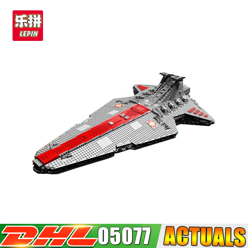 2018 DHL Lepin 05077 Series The UCS Rupblic Star Destroyer Wars Cruiser ST04 Set Building Blocks Bricks Educational Boy DIY Toy lepin 05077 stars series war the ucs rupblic set star destroyer model cruiser st04 diy building kits blocks bricks children toys
