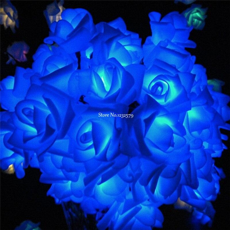 6M 30 LEDS Solar Powered Lights Rose Flower Shape String Light For Holiday  Christmas Wedding Halloween