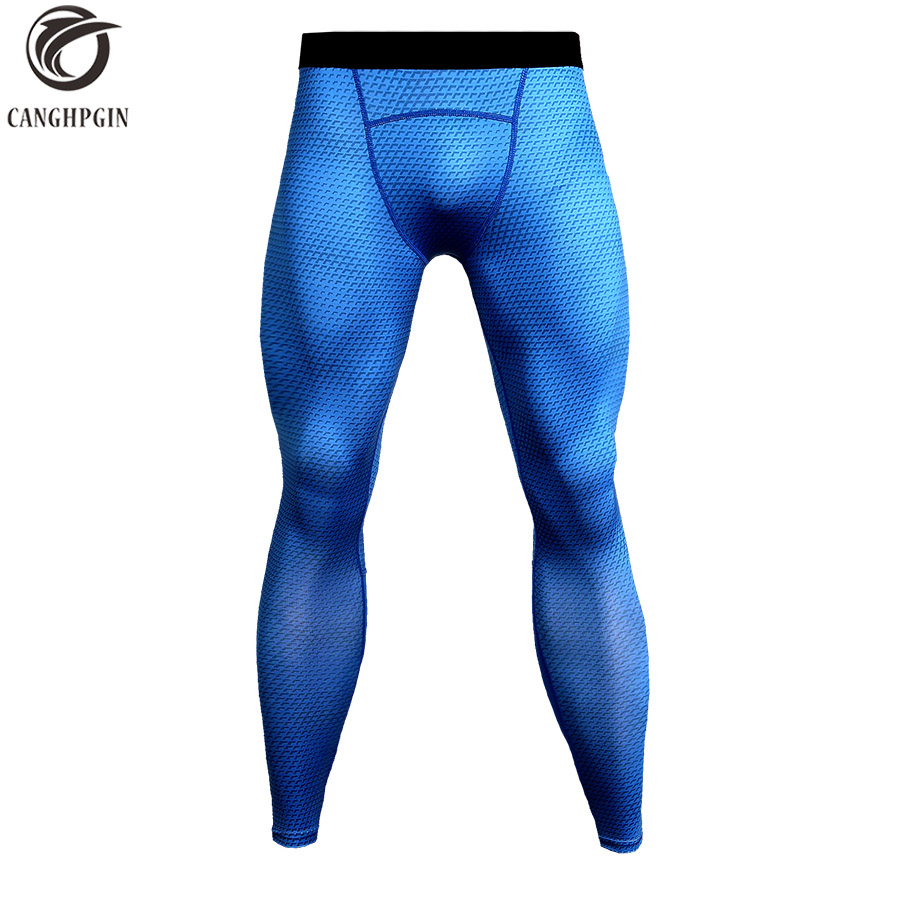 Men Compression Pants Sport Tights Running Pants Mens Fitness Jogging Skinny Leggings Snake Skin Base Layer Quick Dry Trousers