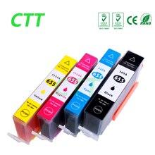 4 шт. совместимый картридж с чернилами для HP655 картридж для HP Deskjet 3525 4615 4625 5525 6520 6525 6625 с чипом 4 цвета