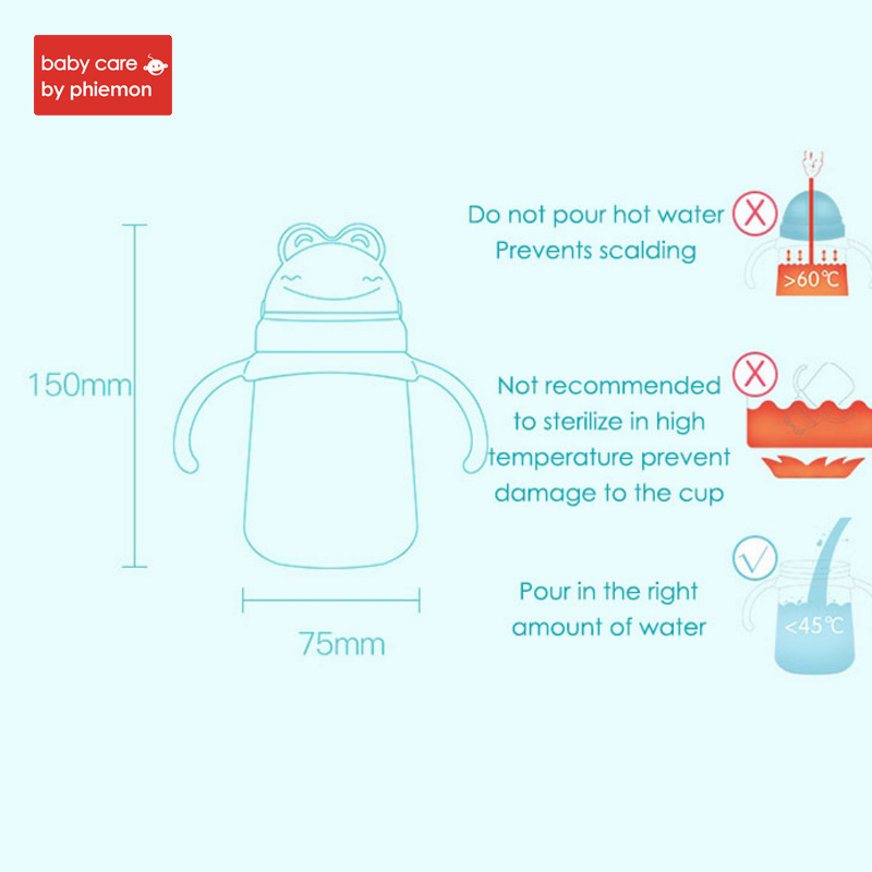 Babycare 260ml Baby Feeding Water Bottle With Straw Infant Kids Silicone Portable No Spill Slide Cover Cup Children Water Bottle in Cups from Mother Kids
