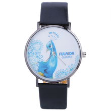 Peacock Watch Girls's Vogue And Informal Quartz Wristwatches Stainless Metal Case PU Leather-based Strap Girls Watches