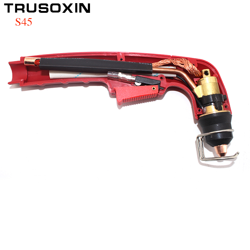 Inverter  DC Air Plasma Torch S45 Head Body Air-cooled Cutting Torch for CNC Plasma Cutting Machine Central Connector
