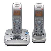 2 Słuchawki Dect 6.0 Podświetlany Cyfrowy Telefon Bezprzewodowy Z Odpowiedzi Maszyny Poczty Głosowej Naprawiono Telefon Dla Pakietu Office Home Bussiness