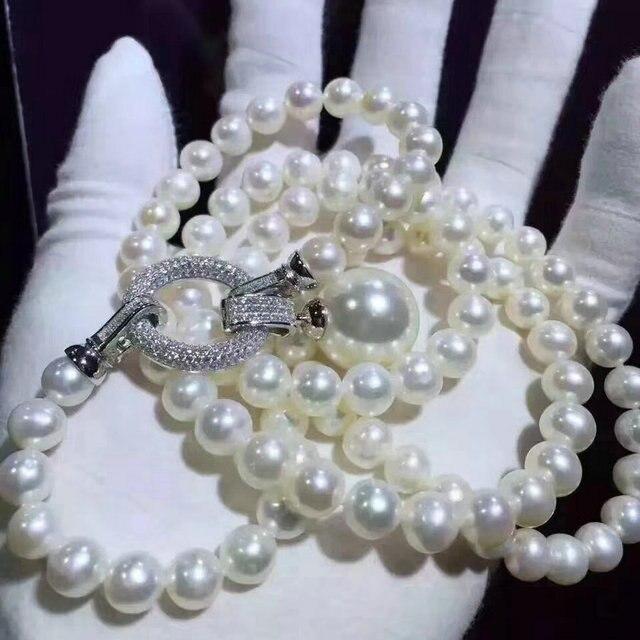 SINZRY squisito AAA dei monili di zircone cubico simulato pendente della perla lunga del maglione collane Partito Coreano accessorio dei monili