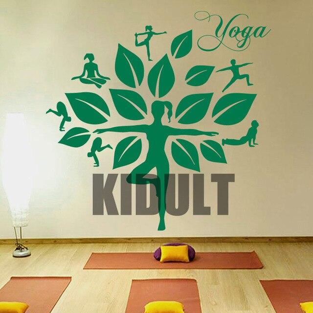 Wall Decals Yoga Tree Studio Meditation Gum Namaste Decal Vinyl Sticker Home  Decor Bedroom Interior Design