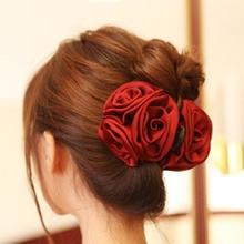 Rose flower clips Fashion banana clip hair wholesale headband ladies band accessories