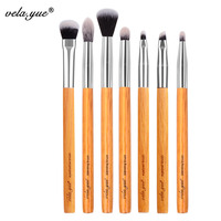 Vela Yue Premium Makeup Brush Set 7pcs Eyes Shadow Smudge Blending Contour Eyeliner Eyebrow Makeup Tools