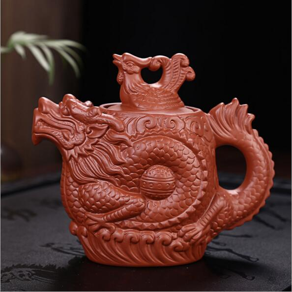 Authentic Yixing Purple Clay Dragon Teapot 1