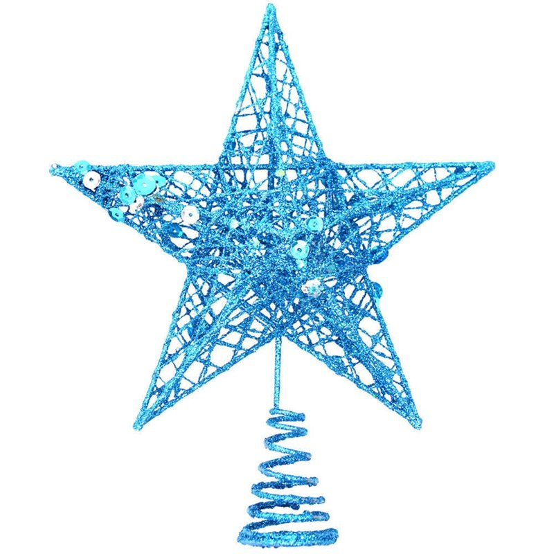 Liberaal 1 Stks Gilter Kerstboom Toppers 20 Cm Goud Poeder Xmas Tree Top Decoratie Ster Toppers Thuis Tafel Party Decor Accessoires 100% Origineel
