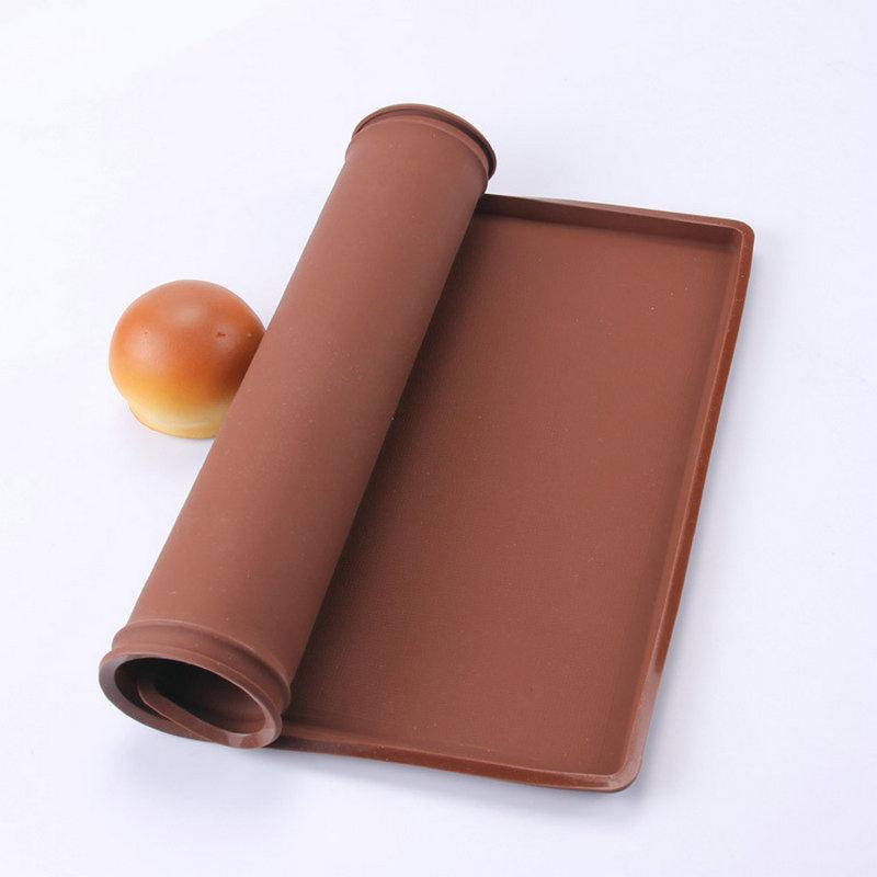 AMW 직사각형 실리콘 베이킹 매트 식품 등급 오븐 스위스 롤 패드 케이크 제빵 도구