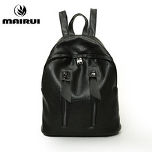 Black Designer Backpacks Waterproof PU Leather Rucksack School Bag For Teenagers Women Backpack Travel Bolsas Mochila Feminina