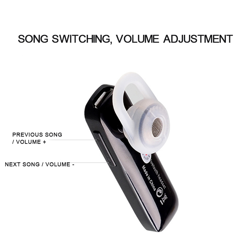 Mini Wireless Bluetooth Headset Long Standby Handsfree Earphone Ear Hook Sport For Smartphone The Same As Plantronics headset in Bluetooth Earphones Headphones from Consumer Electronics
